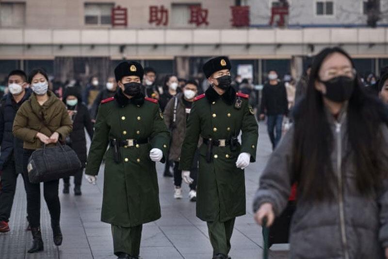 جنگنده های چینی در خدمت ساخت ماسک!، عکس