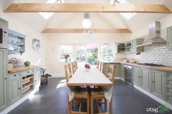 10 ایده کابینت رنگ شده آشپزخانه