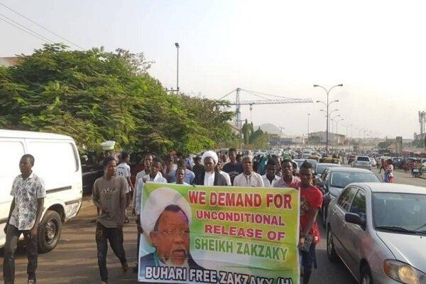 طرفداران شیخ زکزاکی در پایتخت نیجریه تظاهرات کردند